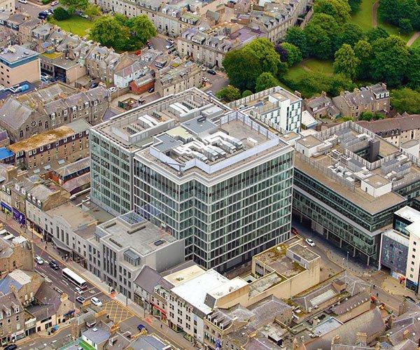 Chi siamo: Rigocal haedquarters Aberdeen Silver Fin Building